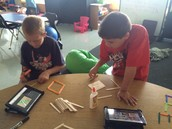 Exploration with popsicle sticks