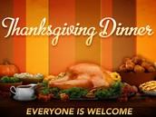 Thanksgiving Dinner for YOU!