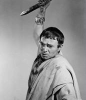 Brutus as he stabs Caesar
