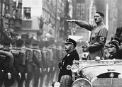 Hitler showing off at a parade