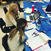 Teachers planning together for student success