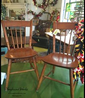 Maple Wood Spindle Back Chairs (Set of 4)  - $225