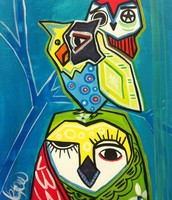 Picasso's Owls