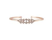 Pave Triangle Cuff Rose Gold