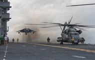 McDonnell Douglas AV-8B Harrier and CH-53 Sea Stallion