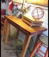 Rustic Butcher Block Wood Table - $350