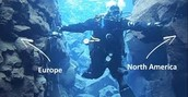 Diving between two continents