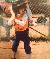 Empezaba a jugar softball cuando yo era muy joven.