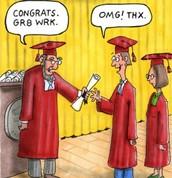 Bad grammar in graduations