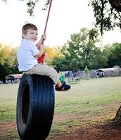 I loved to swing on the swing.