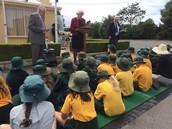 Grade 2 students listening attentively