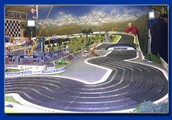 The biggest Scalextric track you've ever seen.