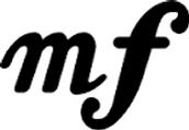 mf( mezzo forte); meduim loud