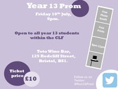 CLF Year 13 Prom - Last chance for tickets!