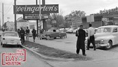 Students protesting outside segregated lunch counter