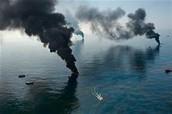 Oil Fires in the ocean