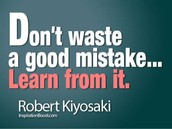 Promote Learning from Mistakes as a thinking tool...