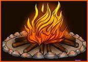 Safe camp fire