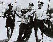 Police assault a striker