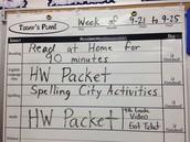 Homework This Week