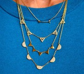 Gold Chevron Necklace (no box) $25
