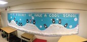 "Look at out ""cool"" bulletin board!"