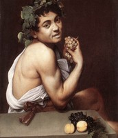 Dionysus with a bunch of grapes