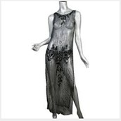 Basic see-through party dress for women