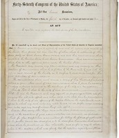 Passage of the Pendelton Act in 1883