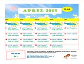 April 2015 Class Connect Lesson Calendar