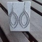 Silver Bardot earrings $17