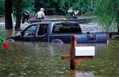A car flooding
