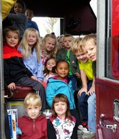 Inside the fire truck