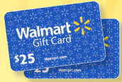 Your student could win a $25 Wal-Mart gift card!