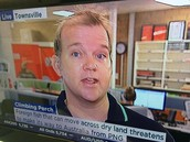 Nathan Waltham on the news, talking about the Climbing Perch, and its dangers.