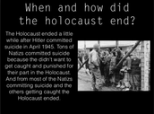 how the holocaust ended?