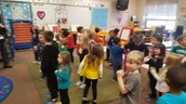 Practicing Songs with Mrs. Fuller's 4K Class