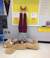 Mrs. Beal STANDS on her head to help students learn!