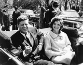 John F. Kennedy and his wife