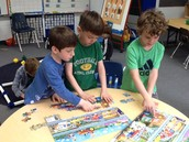 Working together on a city puzzle