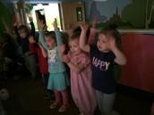 The girls singing Hosanna at Bible.
