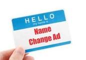 Name Change Ad