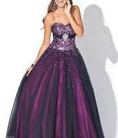 púrpura y negro de largo torso glittered