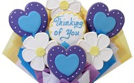 Thinking of You Hearts and Flowers - 7 Cookies  $49.99