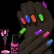 All kinds of nail polish