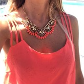 Bright Coral Cay Necklace 49.00