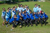 9th grade team and cheerleaders