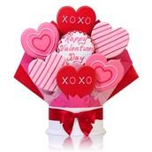 Fancy Hearts Cookie Bouquet