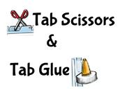 Tab Scissors & Tab Glue