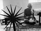 Ghandi reading